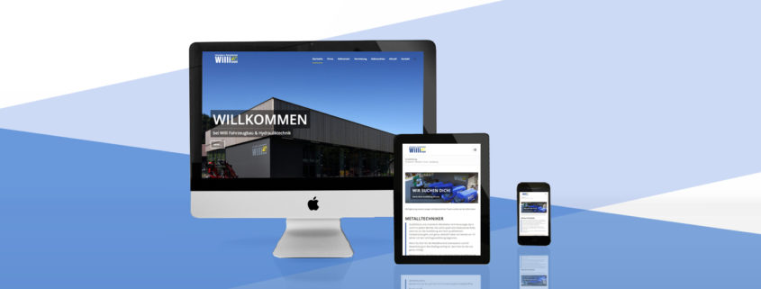 Responsive Webdesign Willi Fahrzeugbau & Hydrauliktechnik GmbH in Alberschwende